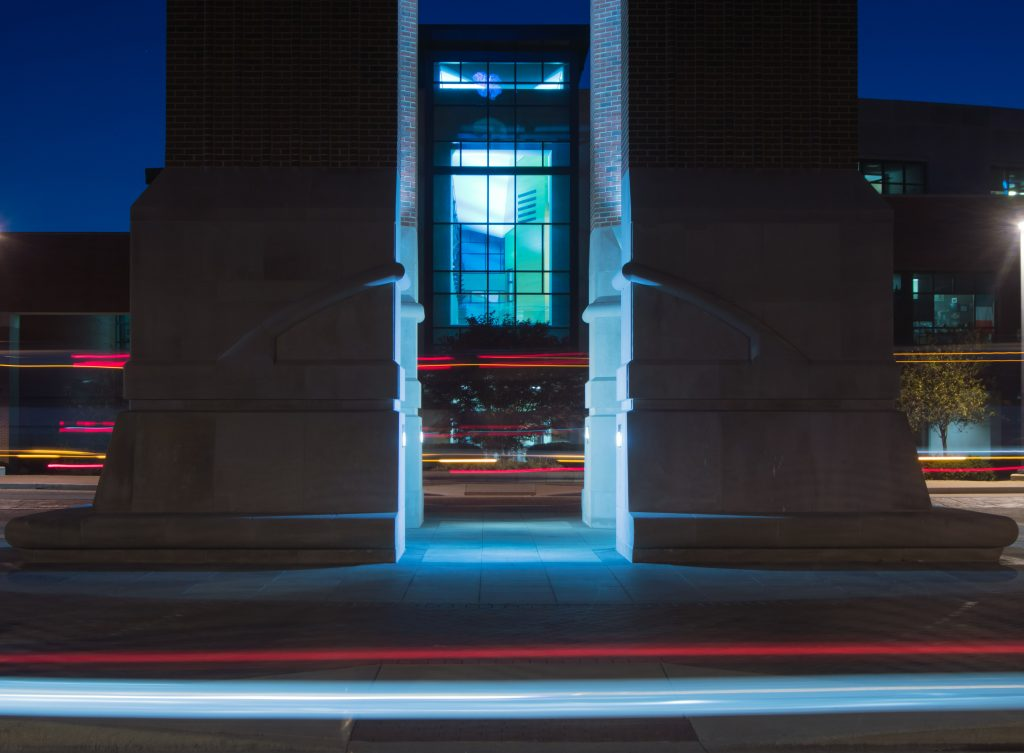 long exposure, ball state, shafer tower, ccim